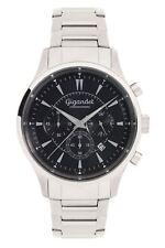 Gigandet Quarz Herren-Armbanduhr Brilliance Chronograph Silber Schwarz G48-006