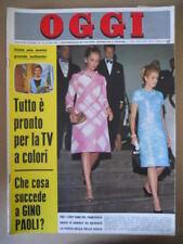 OGGI n°26 1966 Tutto è pronto per TV a colori - Mina Grace Kelly Paola   [G801]
