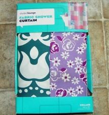 New $24.99 Kohls Student Lounge Fabric Shower curtain in Collage floral