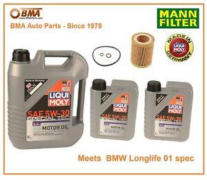 BMW 1 Series M 128i 135i  Complete OEM Oil Change Kit Mann LiquiMoly HU816x 5W30