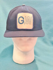 VINTAGE G + W MESH SNAP BACK TRUCKERS HAT