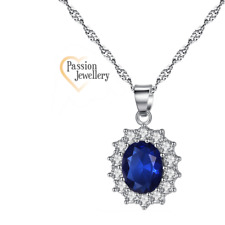 Woman/Girls Silver Plated Elegant Princess Pendant Necklace
