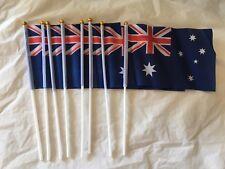 8 Pcs Small Waver Hand Held Aussie Flags/Australia Flag
