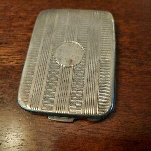 Small Sterling Silver Birmingham English Hallmarks D&F Card Case, Vesta Case
