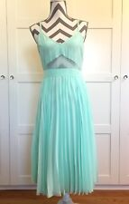 EUC ASOS Sea Foam Green Midi Dress Size 8