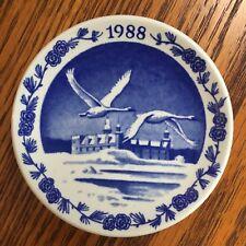 Royal Copenhagen, Hamlet's Castle, 1988, blue and white plate, Kronborg