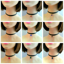 NEW ARRIVAL PU LEATHER CHOKER NECKLACE WITH OR WITHOUT PENDANT-HEART STAR etc.