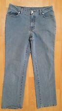 Women's Lands' End Denim Light Blue Jeans Size 8 5-Pocket Preowned