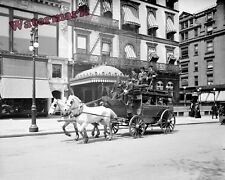 Photograph New York Fifth Avenue Stagecoach Year 1905 8x10
