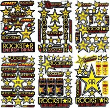 6 SHEETS NEW ROCKSTAR CAR MOTOCROSS ATV ENDURO BIKE RACING DECAL STICKER SM42