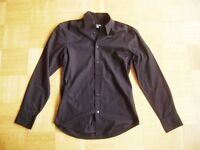 @ H&M @ klassisches tailliertes Hemd langarm schwarz Size S KW 37-38 UK/US 15