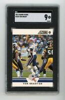 2012 Panini Score #158 Tom Brady SGC 9 Graded Football Card GOAT