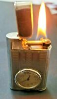 Vintage Eterna Solid Silver cigarette lighter with watch