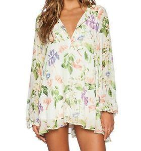 Show Me Your Mumu Size Small Jamie Tunic Floral Flower Press Mini Shift Dress