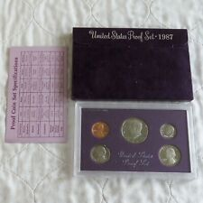 USA 1987 s 5 COIN PROOF YEAR SET - sealed with outer