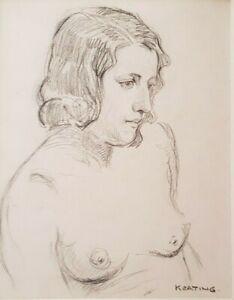 Irish artist Sean Keating,pencil drawing of female nude, William Orpen