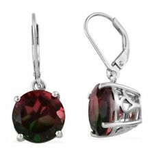 Tourmaline Colour Quartz Lever Back Earrings in Platinum O/lay S/Silver 8.25cts.