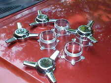 center caps//chrome stright spinners with polished adapters,2&1/8 early american