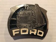 VINTAGE NOS BELT BUCKLE Ford Semi Trucker Tractor 70s 80s New Old Stock