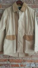 Vintage GHOST RIDERS Tan Cotton Canvas Duster Riding Jacket Coat BEAUTIFUL