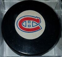 1973-83 MONTREAL CANADIENS VINTAGE NHL VICEROY CANADA OFFICIAL GAME USED PUCK