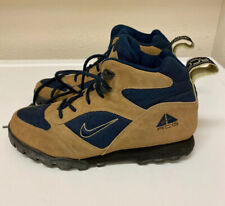 VINTAGE Nike Air ACG Tan Brown Suede Outdoor Hiking Boots Trail Shoes Men's 10