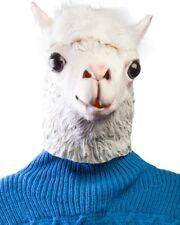 NEW Vivid Natural Latex Alpaca Full Face Cosplay Halloween Mask Props LJ104