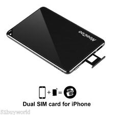 NeeCoo Bluetooth Dual SIM Card Adapter for Apple iPhone 7/7 Plus/6s/6s Plus/6/6+