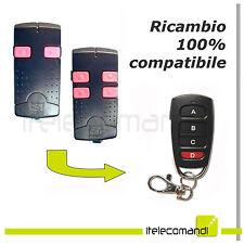 Telecomando radiocomando compatibile Came TOP432A TOP 434A tasti rosa 433 Mhz