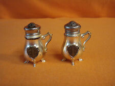 Vintage Chrome Beer Stein Salt and Pepper Shakers Empire State NY Souvenir    16