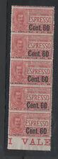 1922 ITALY REGNO ESPRESSO 60 CENT SU 50 STRISCIA 5 VALORI INTEGRI A/5387