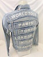 MENS VICTORIOUS DENIM Jacket BLUE PARIS TOKYO JEAN RIPPED DISTRESS VINTAGE 123