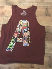 Marvel tank top Red Earth's mightest heros size xl