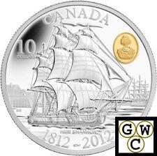 2012 'HMS Shannon' Proof $10 Silver Coin .9999 Fine *No Tax (13024)
