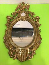 Vtg. Civil War Era Solid Brass Eagle,Federal Shield Mirror Frame 1862 Replica