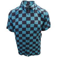OBEY Men's Black & Green Checkered S/S Shirt (Retail $59.99) S06