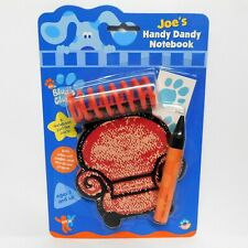 Authentic 2002 Blues Clues Handy Dandy Notebook Joe Thinking Chair Crayon NIP