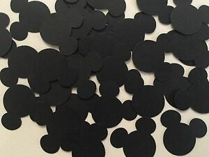 Mickey Mouse Punch Scrapbooking 80 Pcs Black Cardstock Party Craft Confetti