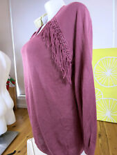AUTOGRAPH SIZE 26 or XL FRINGE V NECK JUMPER   NEW WITH TAGS RRP $69.95 (1 ONLY)