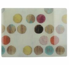 Retro Spots Multi Dots Chopping Board Glass Worktop Saver 40x30cm Wood Effect