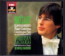 Christian ZACHARIAS: MOZART Piano Concerto No.16 19 Neville MARRINER CD EMI 1990