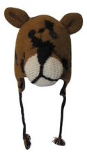 Leopard Zoo Character 100% Wool Funny Animal Knit Hat Christmas Festival Ski
