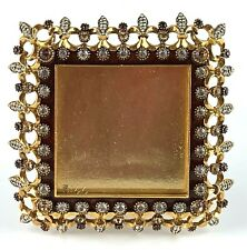 Jay Strongwater Square Picture Frame Swarovski Crystals Mint Condition!!!