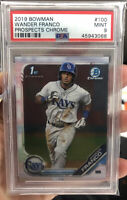 2019 1st Bowman Prospects Chrome #BCP-100 Wander Franco PSA 9 MINT