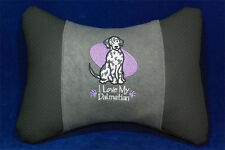 Embroidered car seat neck rest pillow - Dalmatian. Gift for dog lovers.