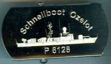 Bundesmarine:Hosengürtel mit Schloss,vernickelt:Schnellboot P 6128 Ozelot