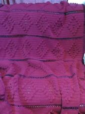 New! Handmade Crochet Blanket Throw Afghan - 65x70 - Pink, Purple