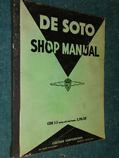 1937 De SOTO SHOP MANUAL / SERVICE MANUAL GOOD ORIGINAL MOPAR DeSOTO S-5  BOOK!!