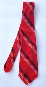 Vintage Tewa Weavers New Mexico Wool Tie Red