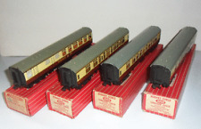 Hornby Dublo 4070 4050 WR Restaurant Car Train Boxed x 4